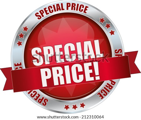 modern red special price sign - stock vector