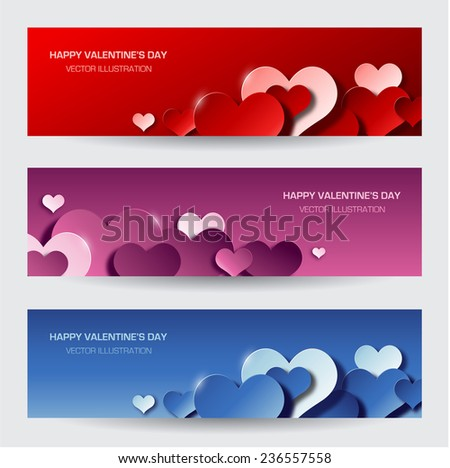 Modern red valentine's day background - stock vector