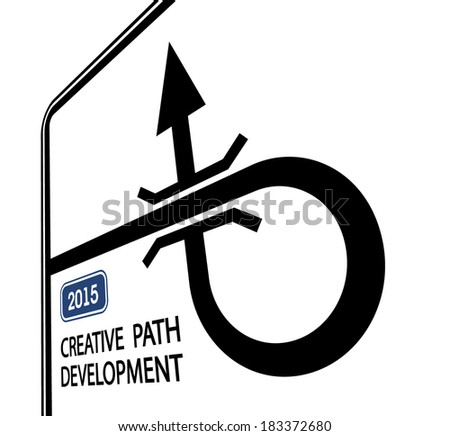 Modern road vector infographic.  Creative path development - stock vector