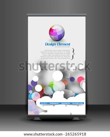 Modern Roll Up Banner Vector Design - stock vector