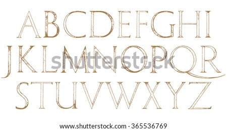Modern Roman Classic Alphabet With A Method Of Geometrical Construction For Large Letters Font Latin