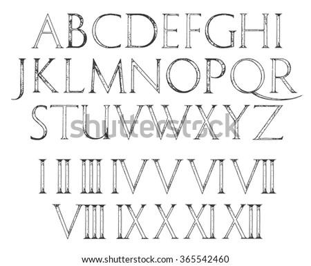 Roman Letters Stock Royalty Free & Vectors