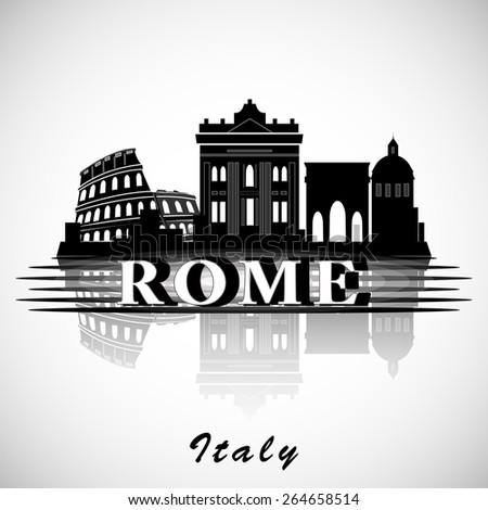 Modern Rome City Skyline Design. Italy