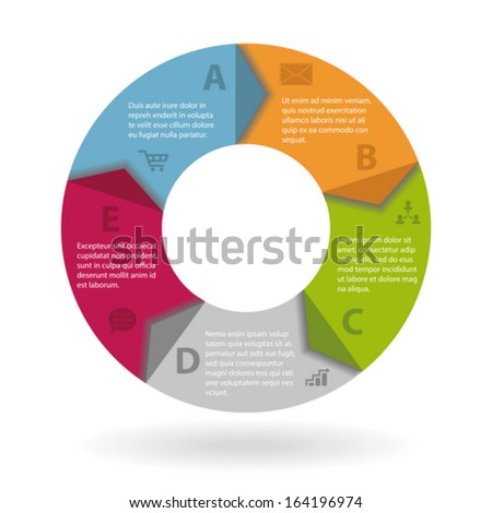Modern round infographics concept with icons - stock vector