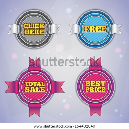 Modern round labels. EPS10. - stock vector