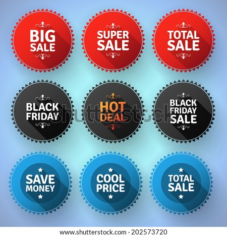 Modern round sale badges. EPS10.