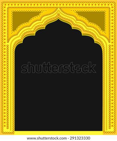 Modern Royal Golden Frame - stock vector