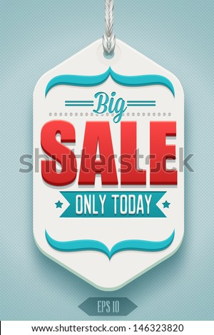 Modern sale badge - stock vector