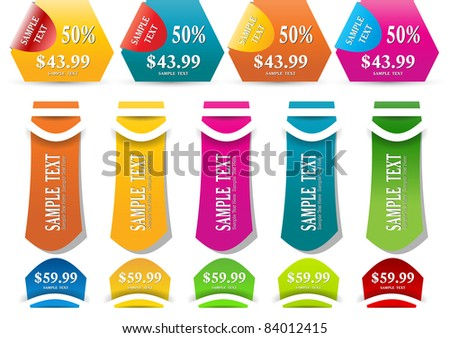 modern sale tags/sticker/label vector - stock vector