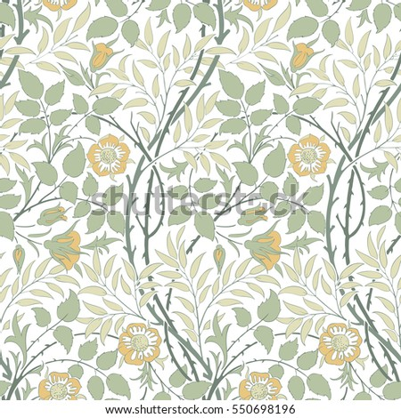 Modern Seamless Floral Pattern For Interior Decoration Wrapping Paper Graphic Design And Textile