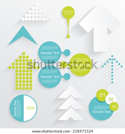 Modern set of business infographic vector elements  - stock vector