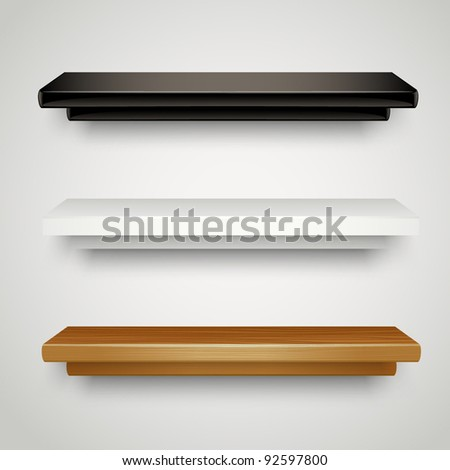 modern shelves - stock vector