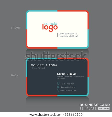 Modern simple business card design template stock vector 318662120 modern simple business card design template cheaphphosting Gallery