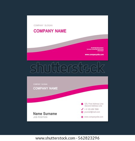 modern simple business card set template design template vector illustration annual report