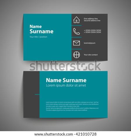 Modern Simple Business Card Template Vector Stock Vector 220383610 ...