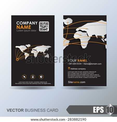 Modern simple business card template business stock vector 283882190 modern simple business card template business card for logistics or transport accmission Image collections