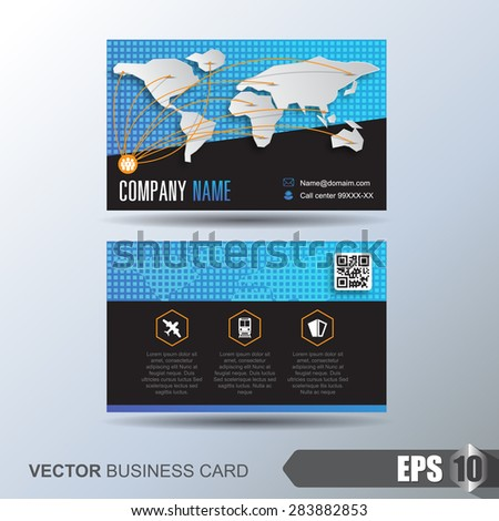 Modern simple business card template business stock photo photo modern simple business card template business card for logistics or transport reheart Gallery