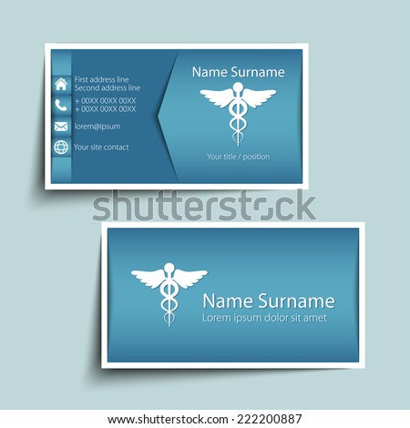 Medical Business Card Stock Images, Royalty-Free Images & Vectors
