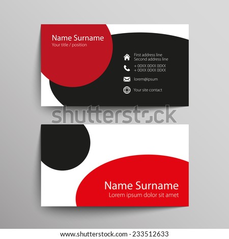 Modern simple business card template vector stock photo photo modern simple business card template vector format reheart Gallery