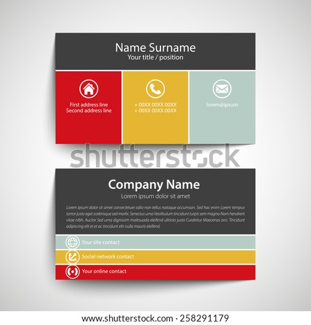 Modern simple business card template vector stock vector royalty modern simple business card template vector format cheaphphosting Choice Image