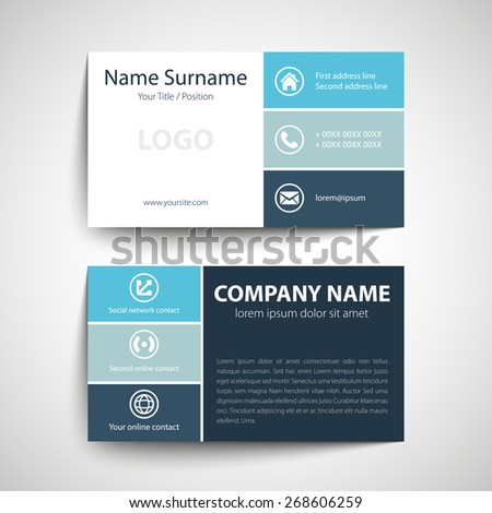 Modern Simple Business Card Template Vector Stock Vector - Networking business card template