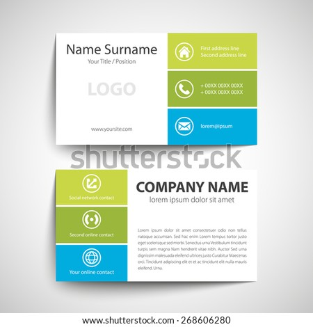 Stock images royalty free images vectors shutterstock modern simple business card template vector format fbccfo Image collections