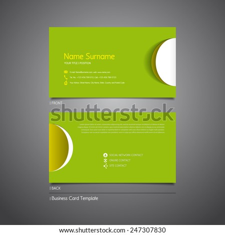 Modern Simple Light Business Card Template Stock Vector - Business card template paper