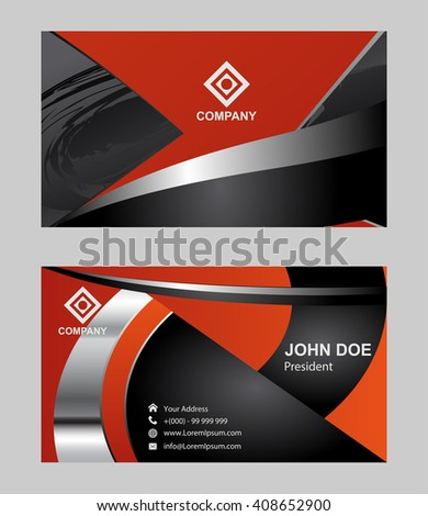 Modern simple luxury standard business card stock vector 408652900 modern simple luxury standard business card design with sharp corners reheart Images