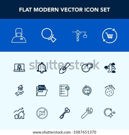 Modern Simple Vector Icon Set Flight Stock Vector 1087651370