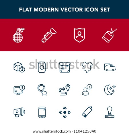 Modern Simple Vector Icon Set Route Stock Vector 1104125840 ... ccae53cf1