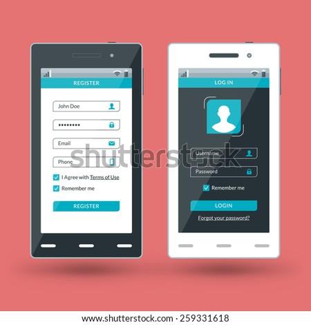 mobile app design template