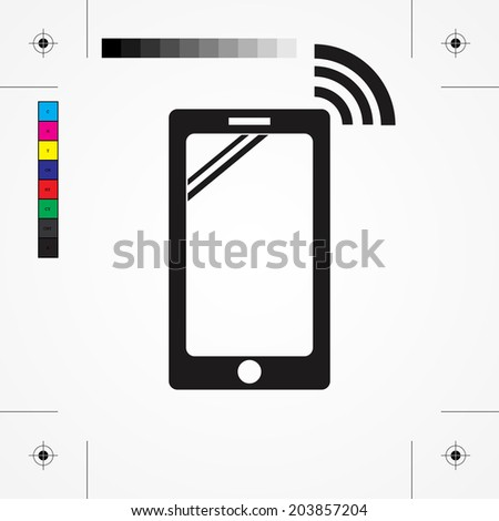 Modern smartphone icon, vector illustration. Flat design style