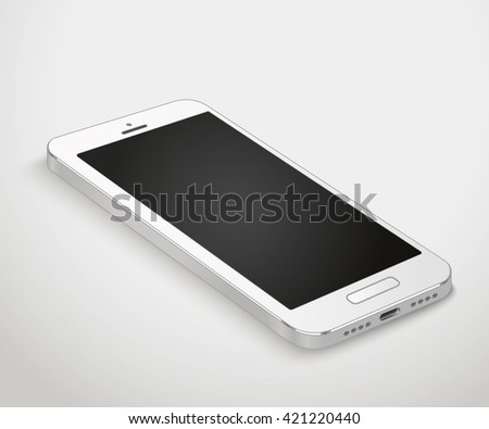 Modern smartphone template. Mobile phone vector illustration - stock vector