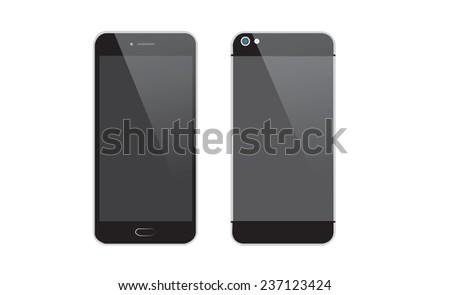 modern smartphone, Vector illustration. - stock vector