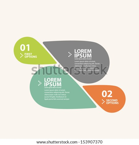 Modern soft color round progress, options banner infographics. - stock vector