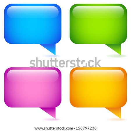 Modern speech bubble icons / concept vectors - stock vector
