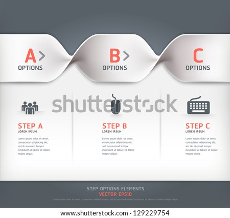 Modern spiral step options banner. Vector illustration. can be used for workflow layout, diagram, number options, web design. - stock vector