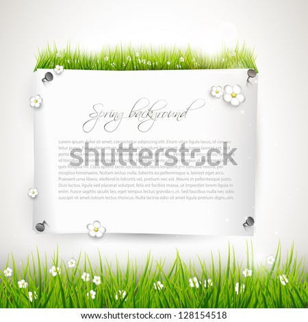 Modern spring background with place for text - stock vector