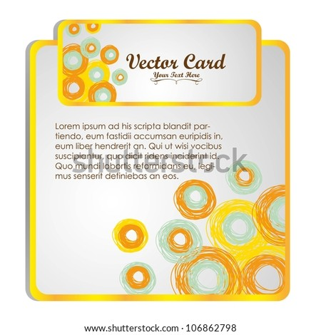 Modern square text isolated on white background, vector illustration