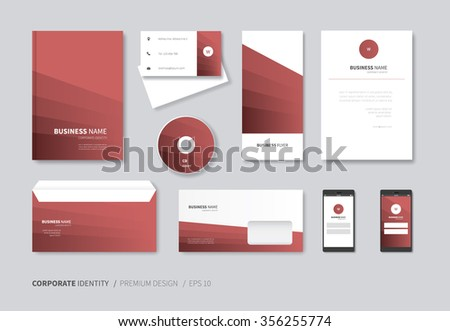 Corporate identity template your business includes stock vector modern stationery design for full company use corporate identity layout with guidelines spiritdancerdesigns Choice Image