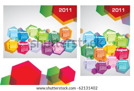 Modern stock vector calendars 2011 - stock vector