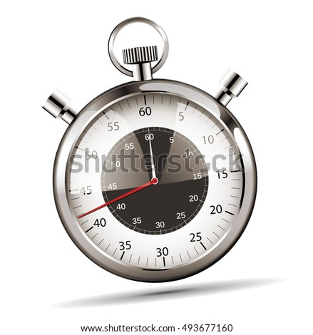 Modern stopwatch - vector illustration on white background