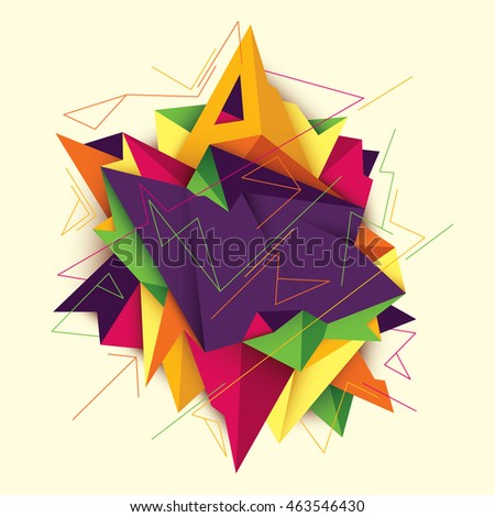 Modern style abstract illustration. Vector illustration.