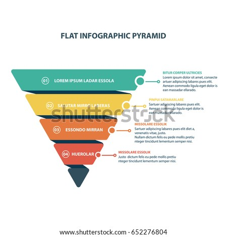 Modern Style Abstract infographic Pyramid number options template Vector illustration can be used for workflow layout diagram business step options banner web design colorful