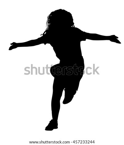 Modern style dancer vector silhouette illustration isolated on white background. Woman ballet performer. Sexy hip hop lady.