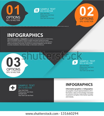 Modern style, options banner. Web design, info graphics. Number options. - stock vector