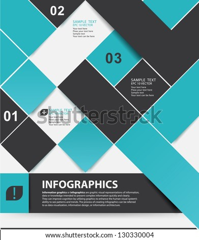 Modern style, options banner. Web design, infographics.  Number options - stock vector