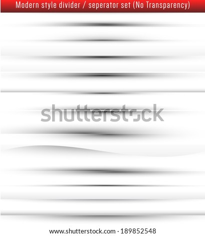 Modern style web page divider/seperator set. (Revised) - stock vector