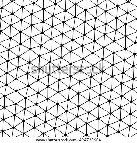 Modern stylish pattern of mesh. Repeating abstract background - stock vector