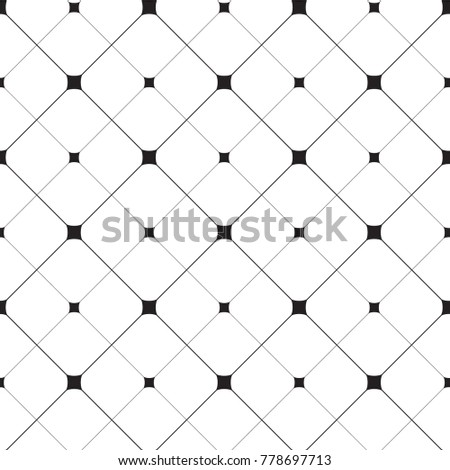 MODERN STYLISH SEAMLESS VECTOR PATTERN. SMOOTH SQUARE IN MESH LINE. REGULAR GEOMETRIC GRAY BACKGROUND